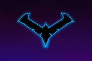 Nightwing Gotham Knights Minimal Logo 4k Wallpaper