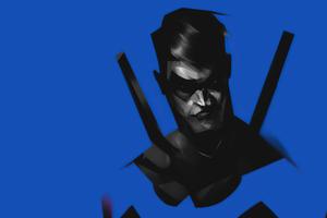 Nightwing Minimal Blue 4k Wallpaper