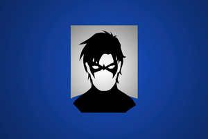 Nightwing Post Minimal Art 4k