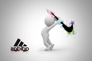 Nike vs Adidas Wallpaper