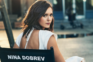 Nina Dobrev Cbs Photoshoot Wallpaper