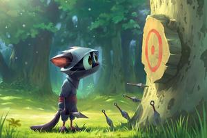 Ninja Cat Shooting 4k