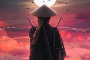 Ninja Of Ancient Asian City 4k Wallpaper