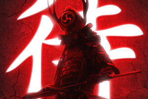 Ninja With Swords Red 5k Wallpaper