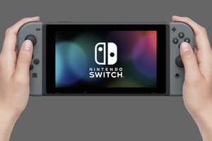 Nintendo Switch Console Wallpaper