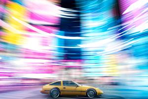 Nissan 300 Zx In Motion 4k