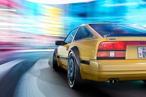Nissan 300 Zx In Motion Blur 4k Wallpaper