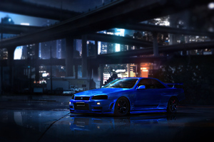Nissan Blue Gtr Wallpaper