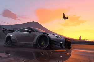 Nissan Gt R Sunset Wallpaper