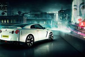 Nissan Gtr In Future Wallpaper