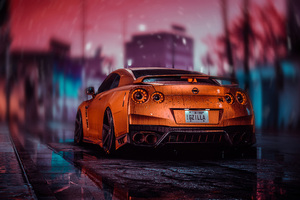 Nissan Gtr Nfs Rear 4k Wallpaper