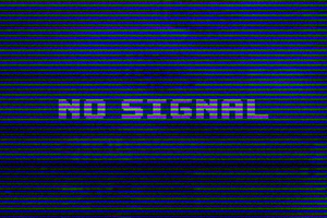 No Signal Typography 4k Wallpaper
