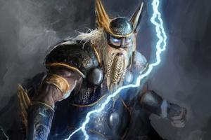 Norse God Of Lightning 4k