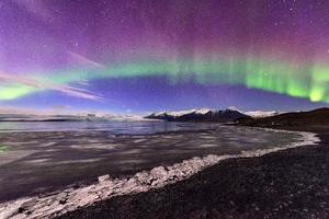 Northern Lights Aurora Glacier Landscape 4k Wallpaper