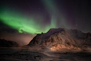 Northern Lights Lofoten Norway 5k Wallpaper
