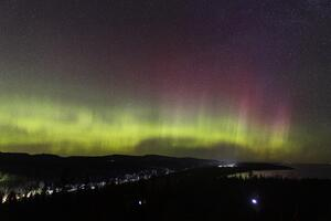 Northern Lights Over Silver Bay