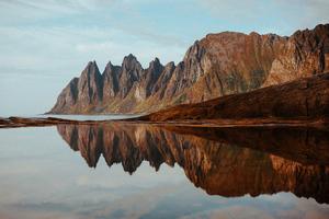 Northern Norway Reflection 4k Wallpaper