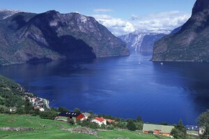 Norway Aurlandsfjord Wallpaper