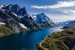 Norway Lofoten Mountains 4k Wallpaper