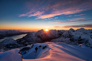 Norway Lofoten Mountains 5k Wallpaper