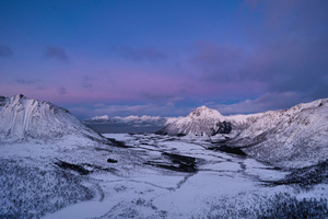 Norway Lofoten Mountains Snow 5k