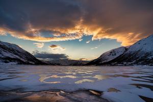 Norway Mountains Finnmark Clouds 5k Wallpaper