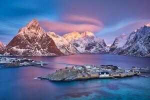 Norway Mountains Island Bridges Sunrises 4k
