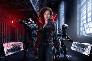 Nothing Lasts Forever Black Widow Wallpaper
