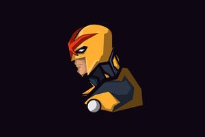 Nova Marvel Comics Minimalism Wallpaper