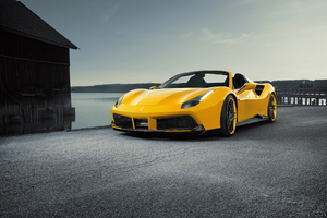 Novitec Ferrari Spider 488 Yellow Roadster