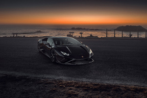Novitec Lamborghini Huracan Evo Headlights Outdoor 10k Wallpaper