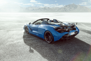Novitec McLaren 720S Spider N Largo Rear 8k Wallpaper