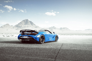 Novitec McLaren 720S Spider N Largo Rear Wallpaper