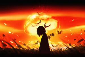 Nuclear Fungus Anime Girl Wallpaper