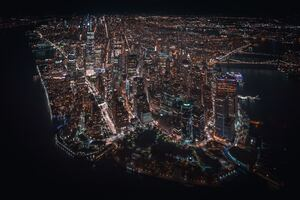 Nyc Downtown Helicopter View 4k Wallpaper