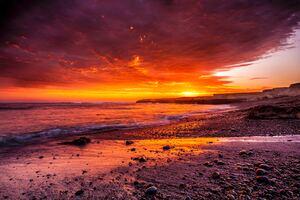 Ocean Coast Sunrise 5k