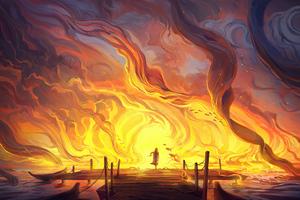 Ocean Is On Fire