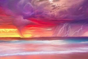 Ocean Storm Sea Painting