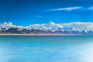 Ocean View Mountains 5k Wallpaper