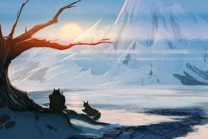 Of Dwarfs And Mountains Wallpaper