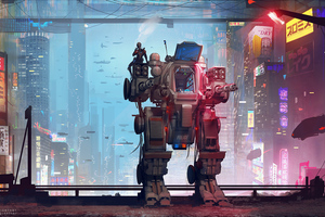 Off Duty Scifi Robo Wallpaper