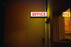 Office Plate Neon Light 5k Wallpaper