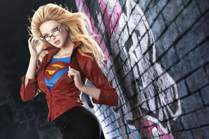 Office Supergirl Wallpaper