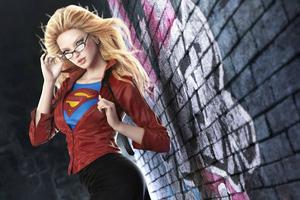 Office Supergirl Wallpaper