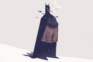 Old Batman Minimal 5k Wallpaper