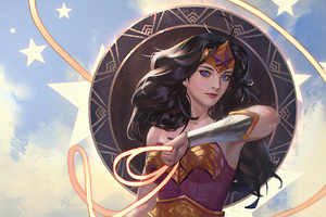 Old Wonder Woman Artistic Art 4k
