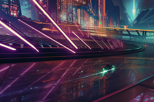 On My Way Neon Rider Scifi