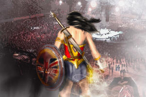 One Love Wonder Woman Wallpaper