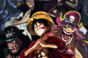 One Piece Charlotte Linlin Kaido Marshall D Teach Monkey D Luffy Shanks Wallpaper