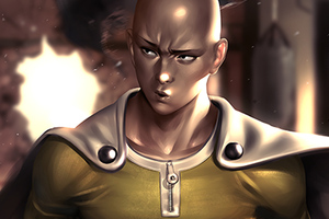 One Punch Man Artwork Wallpaper